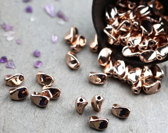 Bead Spacer, Twist Spacer, Rose Gold Bead Spacer, Rose Gold Twist Bead Spacer, Small Bead Spacer, Boho Beads, Jewelry Supplies, Charm A24