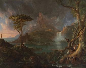 Thomas Cole: A Wild Scene. Fine Art Print/Poster (004551)