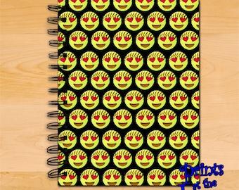 Softball Emoji Notebook/Softball Emoji Spiral Journal/Girls Softball Emoji Diary Notebook/Softball Player/Coach Writing Journal Gift
