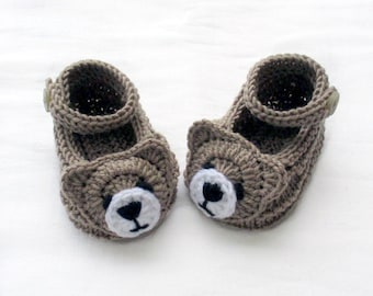 Knitted bear shoes,Knitted baby shoes,Knitted baby booties,Knitted animal shoes,Knitted fun shoes