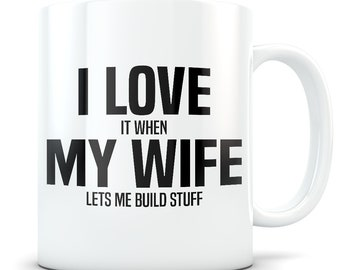 Carpenter gift, carpenter mug, funny carpenter gift, carpenter gift for husband, carpentry gifts for men, carpentry, I love my wife