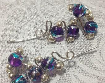Purple Swirl Ear Vines