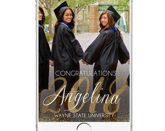 Graduation Geofilter. Congratulations Snapchat Geofilter Graduation University School High School Graduation, Celebration, Snapchat Custom