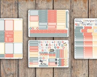 225 Sticker 4 Sheet LAGOON Sampler Kit for 2018 inkWELL Press Planner, Erin Condren IWP-L7