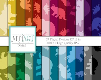 Triceratops Dino, digital papers, scrapbook papers, background  DP 033