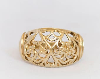 Lace Ring, 14k Gold Lace Ring, Gold Lace Ring, 14k Gold Lace Statement Ring, 14k Gold Wedding Ring, 14kt gold ring