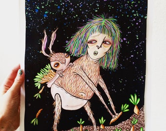 Midnight Snack- Art Print