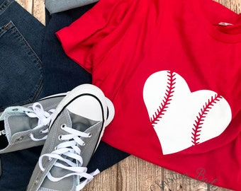 Baseball Heart Shirt - Baseball Mom - Softball Mom - Softball Mom Shirt - Baseball Mom Shirt - Baseball Season Shirt - Softball Season Shirt