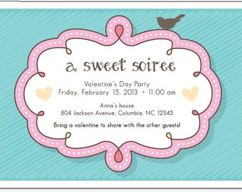 Valentine's Day- Sweet Soiree Party Invitation