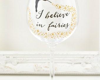 I Believe in Fairies Crystal Goblet