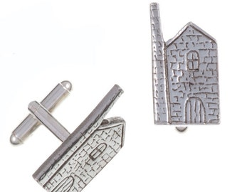 Engine house T-bar cufflinks- Hand Made and Design in UK