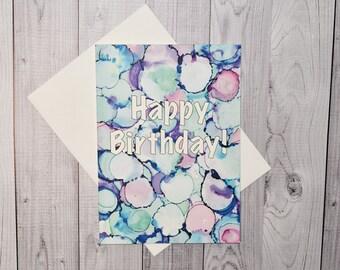 5x7 Birthday Card (Multiple colors)