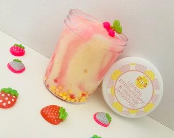 Lemon, Strawberry & Orange Smoothie Cloud Cream Slime, Cloud Slime, Scented Slime - 4 oz. or 8 oz.