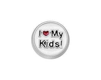 I Love My Kids Floating Charms