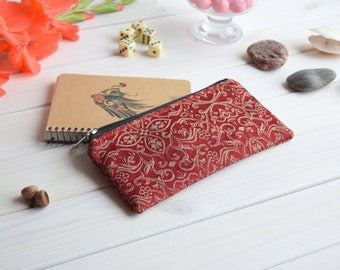 Zipper pencil case, Pencil bag, Cute pencil bag, Small Bag, Project bag, Bridal purse, Pencil Pouch, Pencil Case, Make Up Bag, Pouch