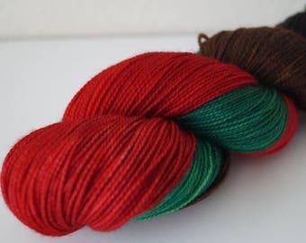 Day 7: Christmas Dinner on Twist Sock – Hand Dyed Yarn