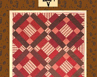 TIMES FOUR Quilt Pattern Sandy Gervais Throw Lap Wall Patchwork Pieces of My Heart