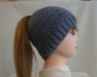 Purple Ponytail Hat - Ponytail Hat - Lavender Ponytail Hat - Messy Bun Hat - Purple Messy Bun Hat - Purple Bun Hat - Lavender Bun Hat