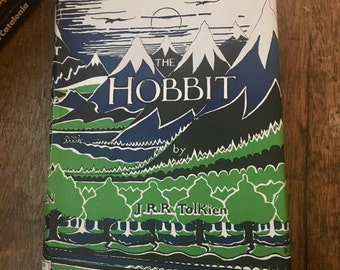 The Hobbit J R R Tolkien First Edition 6th Impression / Second Edition 1954 HB DJ