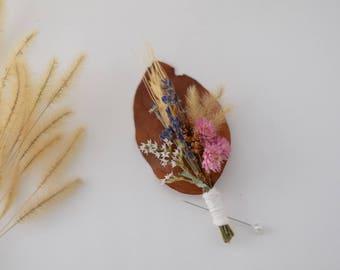 Dried Wildflower Boutonniere - Wedding Boutonniere - Wildflower wedding