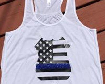 Police badge flag