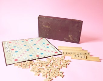 Vintage Classic Scrabble Board Game 1953 Edition Selchow and Righter