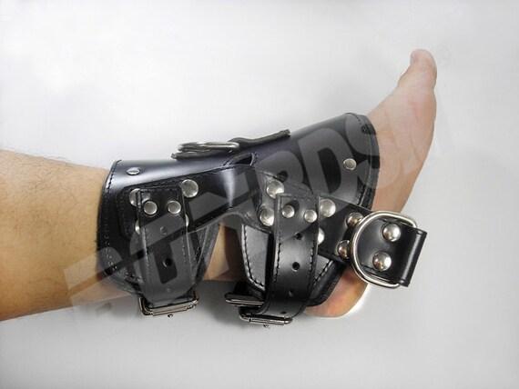 Bonbdsm - Suspension Heavy Duty Leather Feet Ankle Cuffs -6308