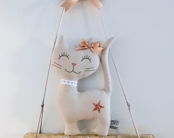 Cat Mobile Driftwood home decor child baby birth gift