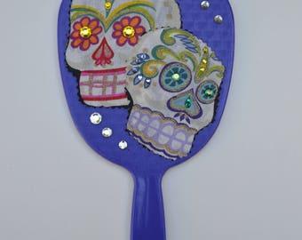 Day of the dead handheld mirror, handheld mirror, Calaveras