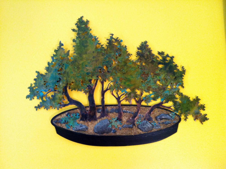 3XL Copper Yose Ue Bonsai Wall Art DEPOSIT