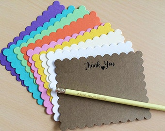Thank You Notes, Thank You, Thank You Tags, Thank You Cards, Thank You Gift, Flat Notecards, Blank Notecards, Set of 8