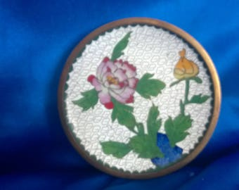 Vintage Chinese Cloisonne Enameled Small Pin Dish