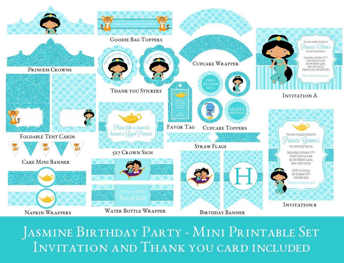 Dorable Princess Jasmine Birthday Invitations Photo   Invitations .