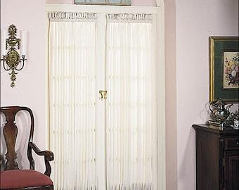 Door Curtains, Door Panels, French Door Curtains, White, Off White, Mocha