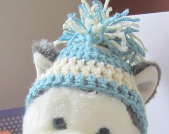 Crochet earflap dog hat