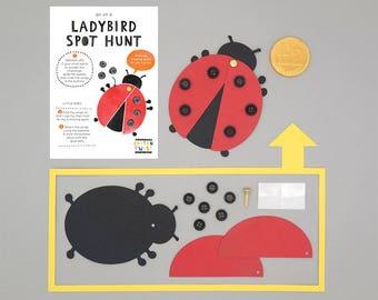 Make Your Own Ladybird Kits - Party Bag Filler, Party Favor, Party Favour, Woodland, Woodland Party, Woodland Birthday, Craft, Craft Kit
