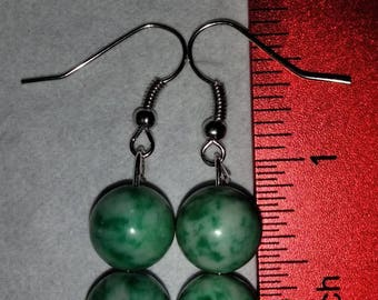 Ching Hai Jade Beaded Earrings