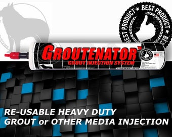 GROUTENATOR - Grout injection systems for Grout & Mortar - Grout Bag and Float replacement - Refillable Quart size tube