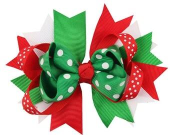 Christmas Hair Bow / Christmas Headband / Holiday Hair Bow / Christmas Hair Clip / Christmas Hairbow/ Newborn/ Infant/ Baby / Girl / Toddler