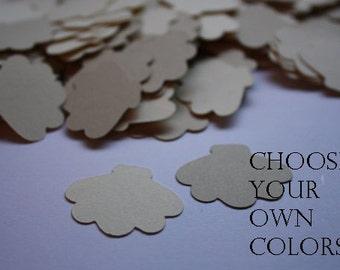 Choose your Color! 200 pieces Seashell Die Cut Confetti