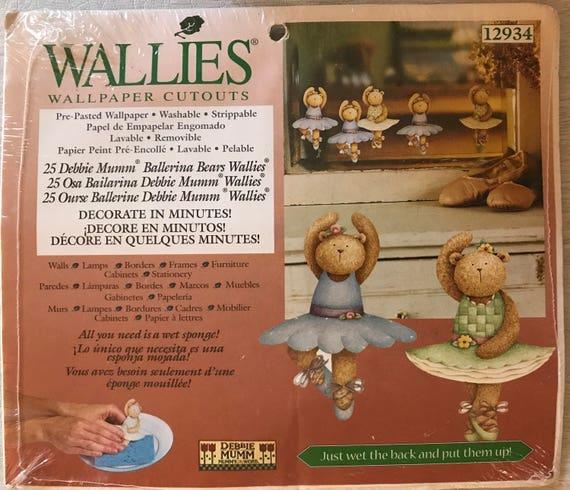 Debbie Mumm Wallies Wall Paper Cutouts Ballerina Bears