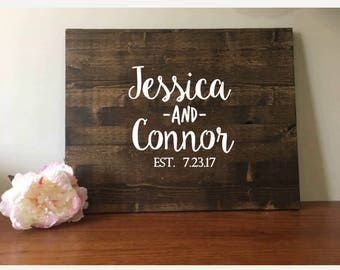 """Wedding Guest book/Wood Guest book/Alternate Guest book/Wedding Sign/Rustic Wedding Guest book/Custom Guest Book /Rustic Wedding/20""""x24"""""""