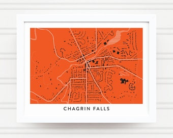 CHAGRIN FALLS OHIO Map Print - Home Decor - Office Decor - Chagrin Falls Artwork - Poster - Wall Art - Ohio Gift