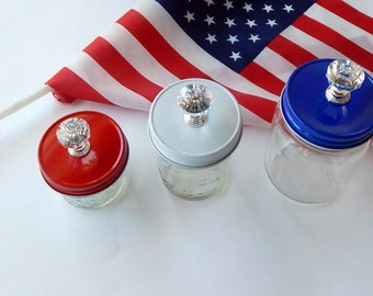 Mason Jar Lid with Acrylic Knob ~ Ball Regular and Wide Mouth ~ Colorful Lids in Regular Mouth Size ~ All Colors In Stock