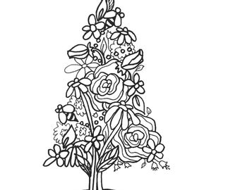 10 Trees Set1 ColoringPages Original Art Coloring Book For AdultsColoring Therapy Pages Adults Printable Christmas Tree