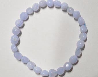 Jewelry - Bracelet grain agate blue lace - Natural blue lace agate bead bracelet