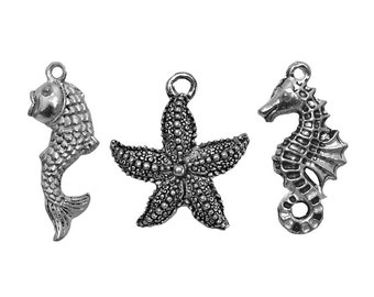 10% OFF Sea Life 3 Collection Pewter Dangles Charms Pendants