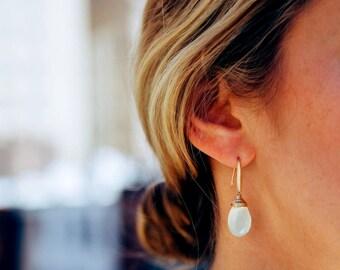 Aqua Chalcedony earrings Lucite green pale mint Statement earrings Under 50 Vitrine