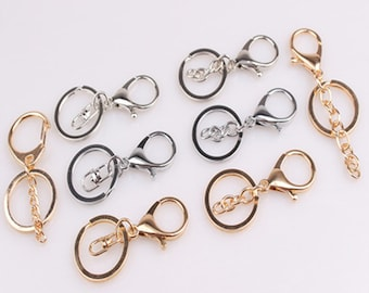 Metal 5pcs lobster buckle clasp with chain hook for bag