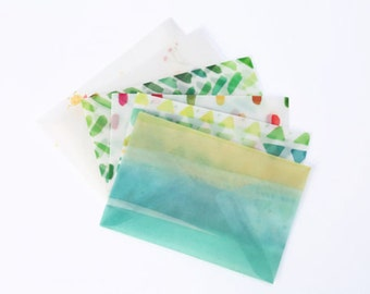 Translucent Watercolour Letter Writing Envelope Set